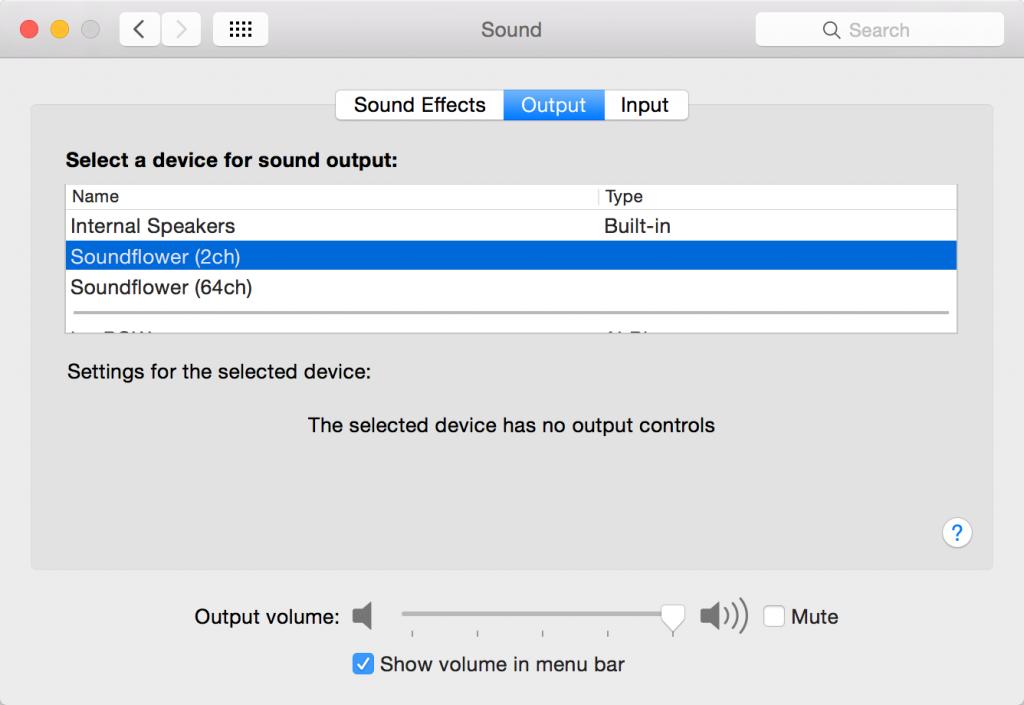 System Prefs Sound